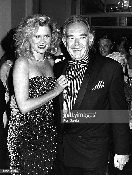 Television Personality Robin Leach and wife Judith Ledford attend Fourth Annual Rita Hayworth Alzheimer's Humanitarian Gala on May 16 1988 at the...