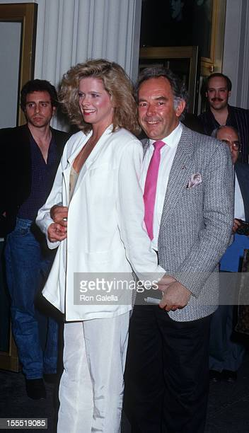 Television Personality Robin Leach and wife Judith Ledford attend the premiere of Sleight Of Hand on April 21 1987 at the Cort Theater in New York...