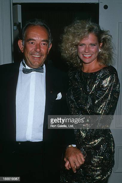 Television Personality Robin Leach and wife Judith Ledford attend The Maple Center Gala Honoring Charles and Ava Fries on October 12 1988 at the...