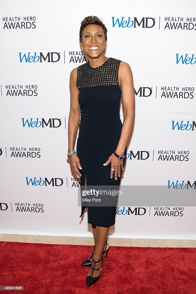 Television personality Robin Roberts attends the 2015 Health Hero Awards at The Times Center on November 5, 2015 in New York City.