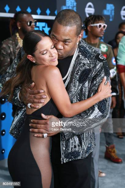 Television personality Rocsi Diaz and music artist Busta Rhymes arrives at the 2017 BET Awards at Microsoft Theater on June 25 2017 in Los Angeles...