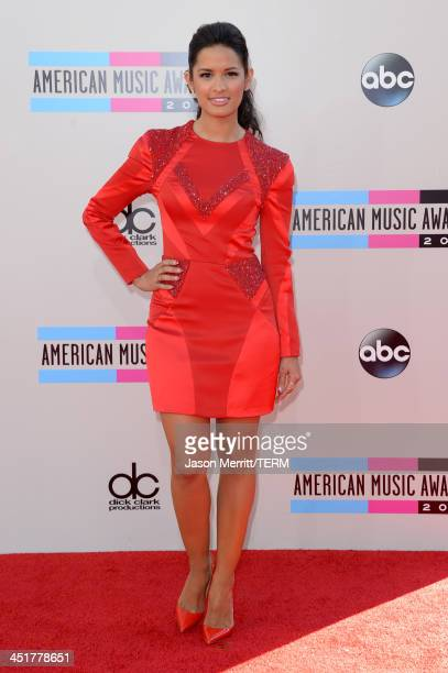 Television personality Rocsi Diaz attends the 2013 American Music Awards at Nokia Theatre LA Live on November 24 2013 in Los Angeles California