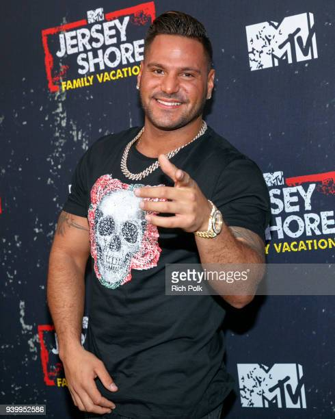 """Television personality Ronnie Ortiz-Magro arrives at the """"Jersey Shore Family Vacation"""" Premiere Party at Hyde Sunset Kitchen + Cocktails on March..."""