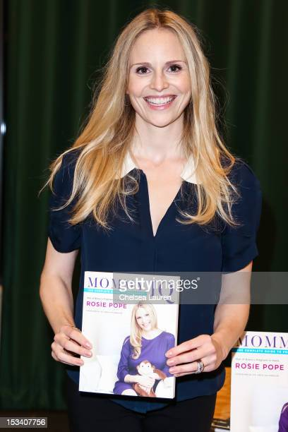 Television personality Rosie Pope attends a book signing for Mommy IQ The Complete Guide to Pregnancy at Barnes Noble Booksellers on October 4 2012...