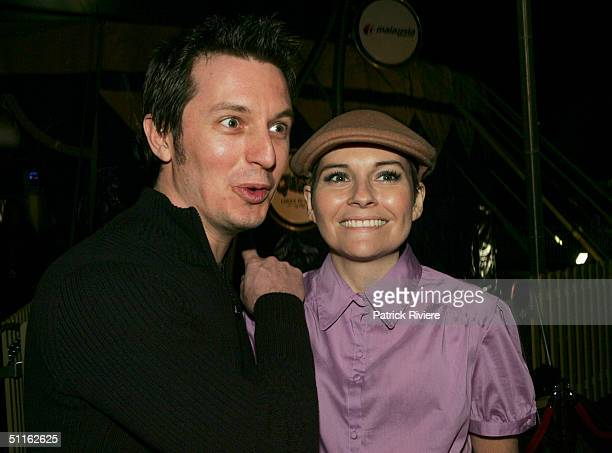 Television personality Rove McManus and actress girlfriend Belinda Emmett on the Tapis Rouge at the premiere of Quidam a production from The Cirque...
