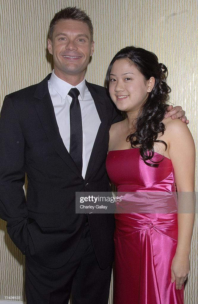 Television personality Ryan Seacrest (L) and violinist Stephanie Yoo attend the 53rd Annual Young Musicians Foundation Gala, celebrating Merv Griffin, at the Beverly Hilton hotel on October 19, 2007 in Los Angeles, California.