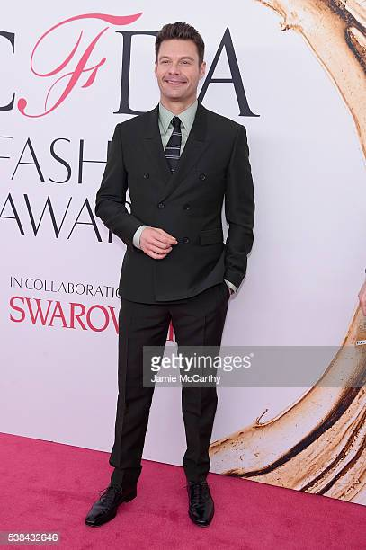 Television Personality Ryan Seacrest attends the 2016 CFDA Fashion Awards at the Hammerstein Ballroom on June 6 2016 in New York City