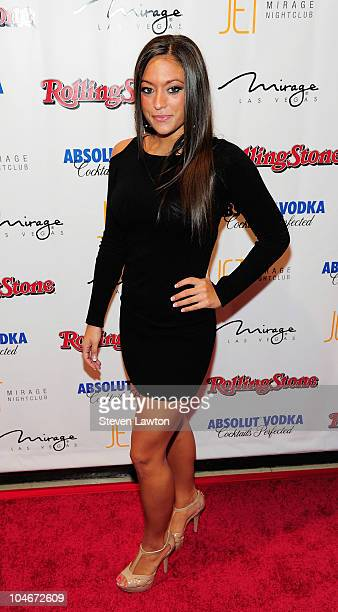 Television personality Sammi 'Sweetheart' Giancola arrives at the Rolling Stone Hot Party at the Jet Nightclub at The Mirage Hotel Casino on October...