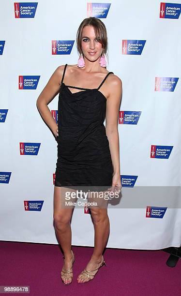 Television personality Sarah Klo attends The American Cancer Society's 2010 Pink and Black Tie Gala at Steiner Studios on May 6, 2010 in the Brooklyn...