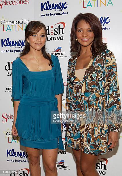 Television personality Satcha Pretto and Ilia Calderon attends at the Selecciones Generation Latino 2007 at Bongos on October 3 2007 in Miami