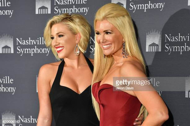 Television Personality Savannah Crisley and fashion show host Allison DeMarcus arrive at Schermerhorn Symphony Center on April 18 2017 in Nashville...