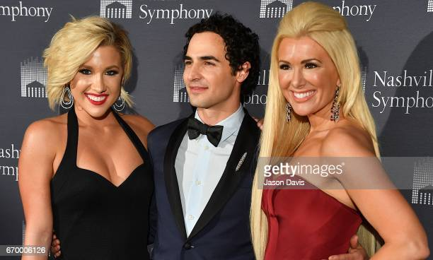 Television Personality Savannah Crisley fashion designer Zac Posen and fashion show host Allison DeMarcus arrive at Schermerhorn Symphony Center on...