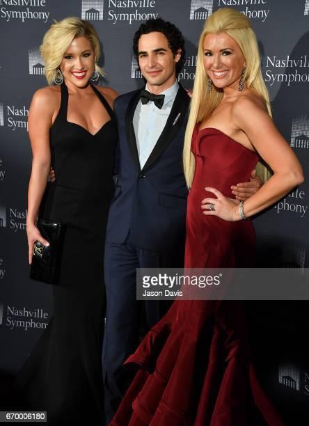 Television Personality Savannah Crisley fashion designer Zac Posen and fashion show host Allison DeMarcus arrive at Schermerhorn Symphony Center on...