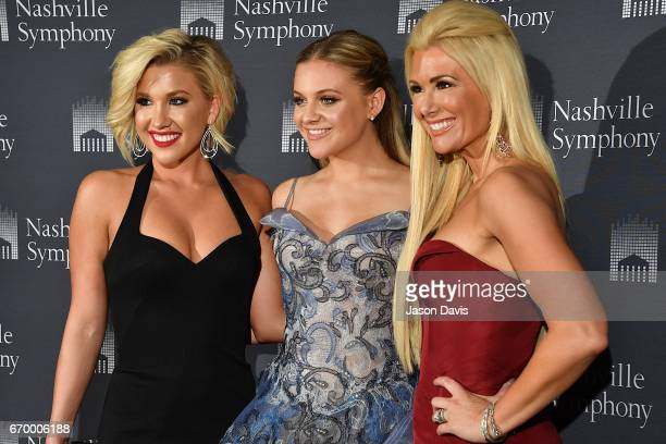 Television Personality Savannah Crisley recording artist Kelsea Ballerini and fashion show host Allison DeMarcus arrive at Schermerhorn Symphony...