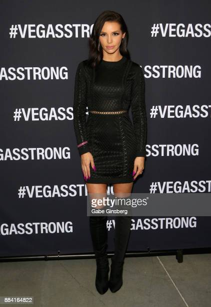 Television personality Scheana Marie attends the Vegas Strong Benefit Concert at TMobile Arena to support victims of the October 1 tragedy on the Las...