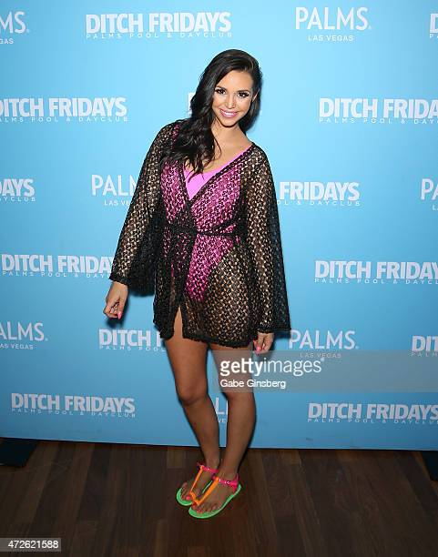 Television personality Scheana Shay arrives at Ditch Fridays at Palms Casino Resort to celebrate her birthday on May 8 2015 in Las Vegas Nevada