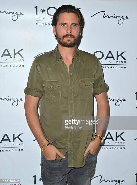 Television personality Scott Disick arrives at 1 OAK Nightclub at The Mirage Hotel Casino on June 27 2015 in Las Vegas Nevada