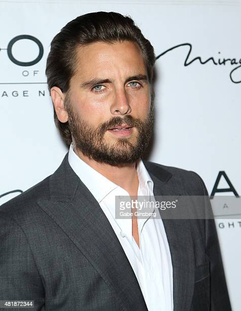 Television personality Scott Disick arrives at 1 OAK Nightclub at The Mirage Hotel Casino on July 25 2015 in Las Vegas Nevada