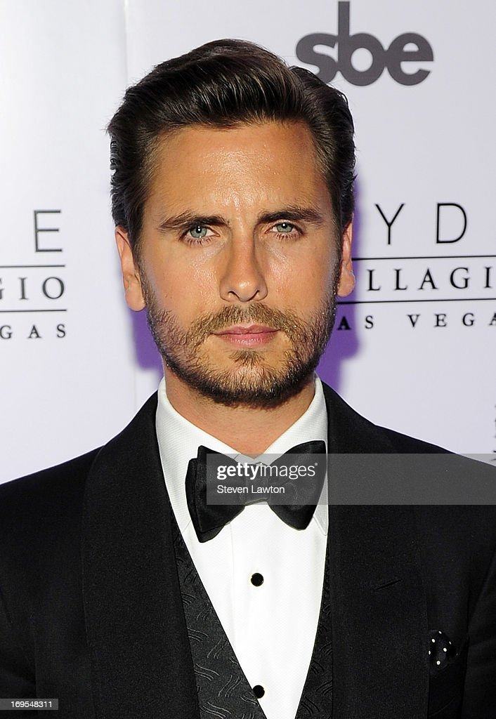 Television personality Scott Disick arrives at his 30th birthday bash at Hyde Bellagio at the Bellagio on May 26, 2013 in Las Vegas, Nevada.
