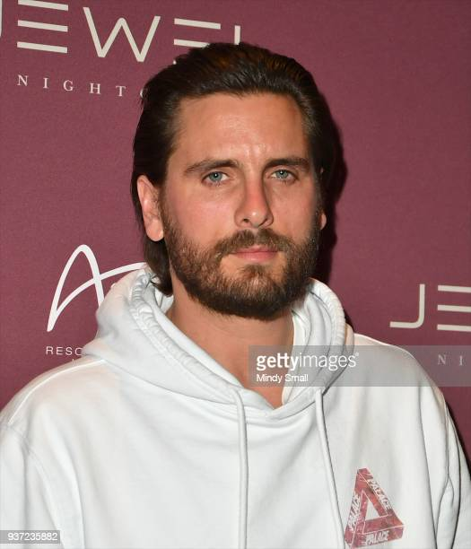 Television personality Scott Disick arrives at Jewel Nightclub at the Aria Resort Casino on March 24 2018 in Las Vegas Nevada