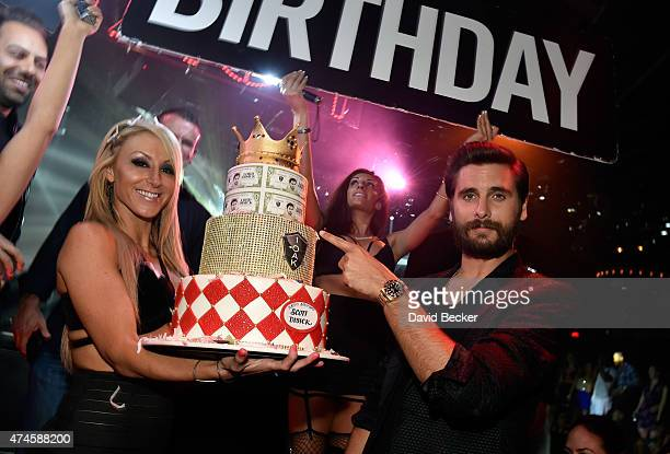 Television personality Scott Disick attends his birthday celebration at 1 OAK Nightclub at The Mirage Hotel & Casino on May 23, 2015 in Las Vegas,...