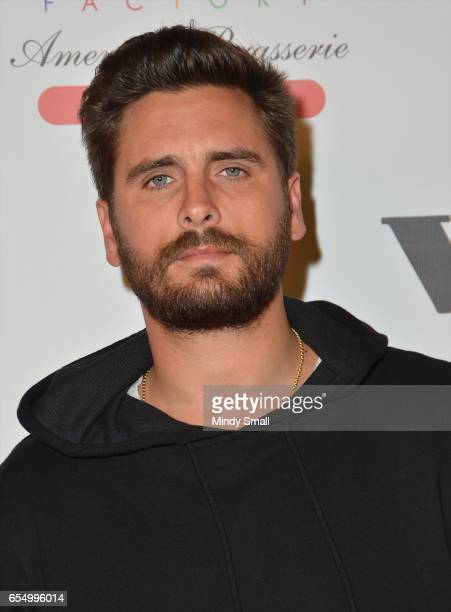 Television personality Scott Disick attends the grand opening of Sugar Factory American Brasserie at the Fashion Show mall on March 18 2017 in Las...