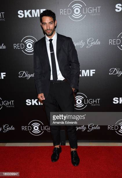 Television personality Shane Duffy arrives at the launch of the Redlight Traffic APP at the Dignity Gala at The Beverly Hilton Hotel on October 18...