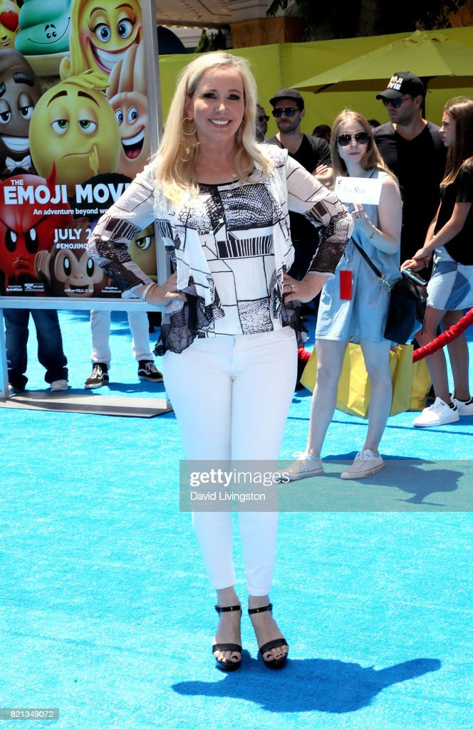 Television personality Shannon Beador attends the premiere of Columbia Pictures and Sony Pictures Animation's 'The Emoji Movie' at Regency Village Theatre on July 23, 2017 in Westwood, California.