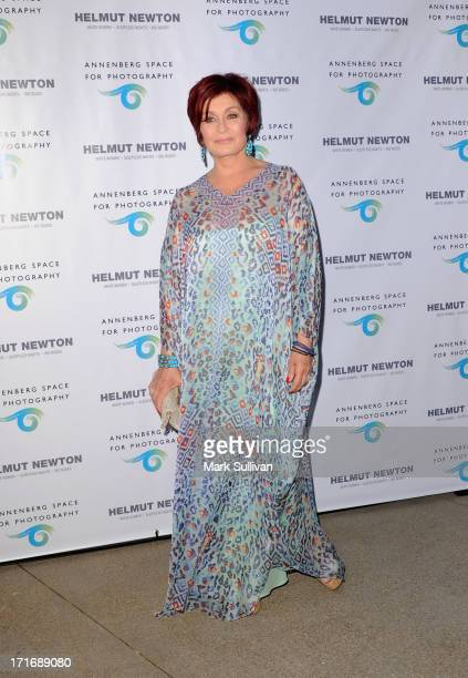 Television personality Sharon Osbourne attends the opening of Helmut Newton White Women Sleepless Nights Big Nudes at at Annenberg Space For...