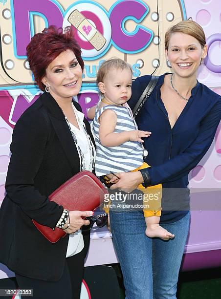 Television personality Sharon Osbourne granddaughter Pearl Osbourne and daughterinlaw Lisa Osbourne attend Disney Junior's 'Doc McStuffins' Doc...