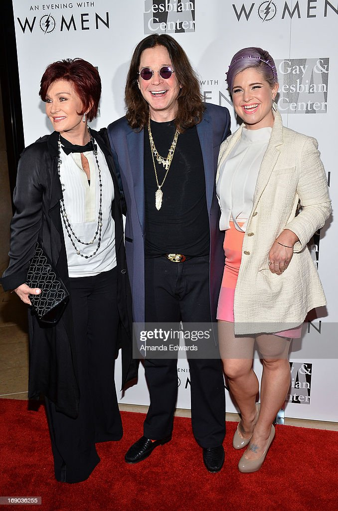 Television personality Sharon Osbourne, musician Ozzy Osbourne and television personality Kelly Osbourne arrive at the L.A. Gay & Lesbian Center's 2013 'An Evening With Women' Gala at The Beverly Hilton Hotel on May 18, 2013 in Beverly Hills, California.