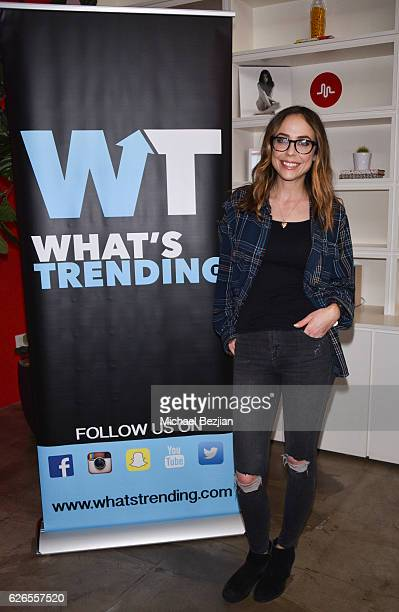 Television personality Shira Lazar at Musical.ly And What's Trending Host To Benefit The Pablove Foundation at Musical.ly HQ on November 29, 2016 in...
