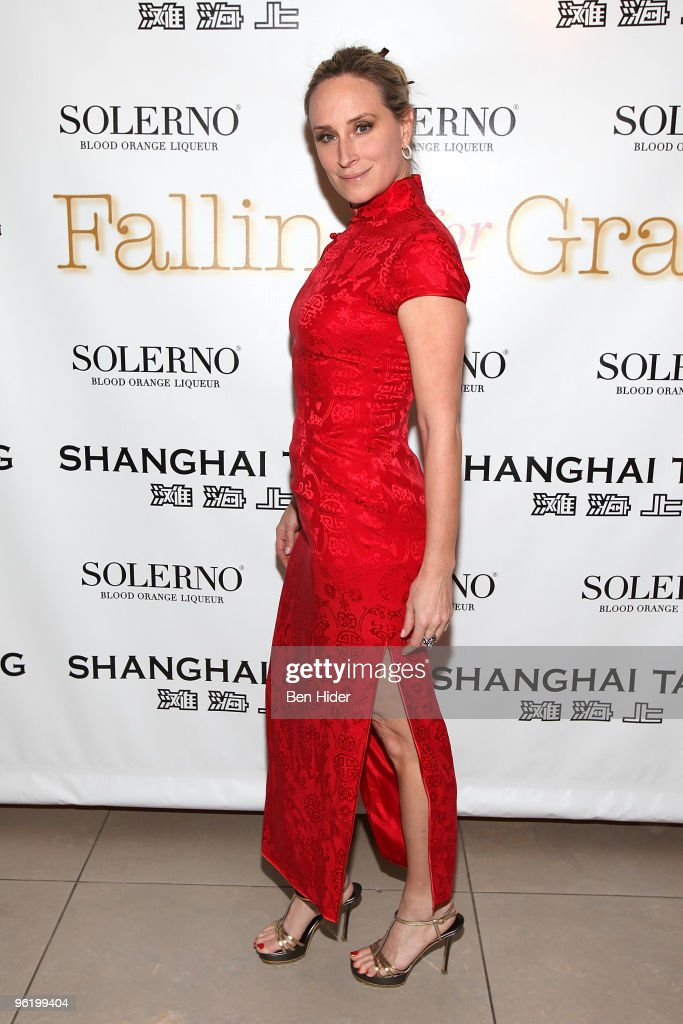 Television personality Sonja Morgan attends the premiere of 'Falling For Grace' at the Asia Society on January 26, 2010 in New York City.