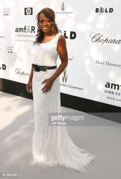 Television personality Star Jones arrives at amfAR's Cinema Against AIDS 2008 benefit held at Le Moulin de Mougins during the 61st International...