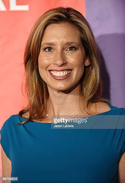 Television personality Stephanie Abrams attends NBC and Universal's 2009 TCA press tour allstar party at The Langham Resort on August 5 2009 in...