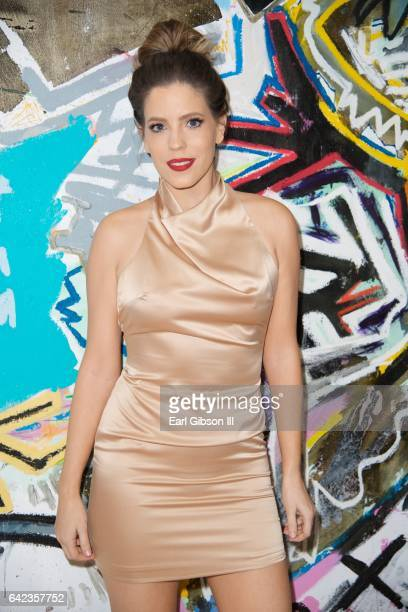 Television Personality Stephanie Bauer attends the Power To The Planet Exhibition Opening at De Re Gallery on February 16 2017 in West Hollywood...