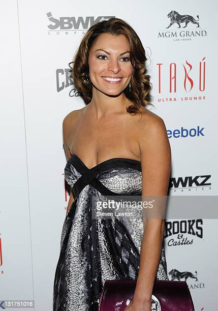 Television personality Stephenie Lagrossa arrives at the Tabu Ultra Lounge at MGM Grand Hotel/Casino for the opening night of the JabbaWockeez dance...