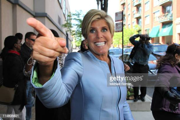 Television personality Suze Orman departs Harpo Studios after the final taping of 'Oprah' on May 24 2011 in Chicago Illinois