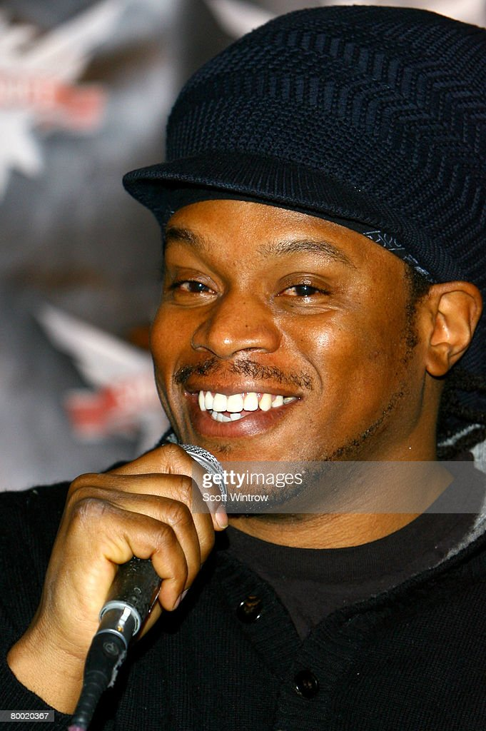 Television personality Sway attends a press conference for the