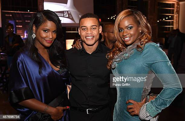 Television personality Tameka Raymond actor Robert Ri'chard and television personality Christina Johnson attend Lexus presents Beyond The Cut at The...