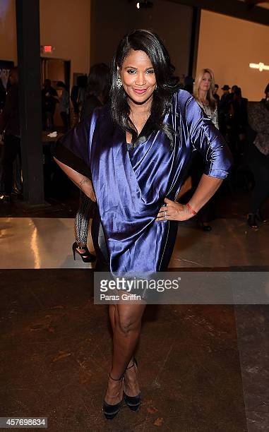 Television personality Tameka Raymond attends Lexus presents Beyond The Cut at The Foundry At Puritan Mill on October 22 2014 in Atlanta Georgia