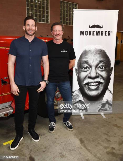 Television personality Tarek El Moussa and Movember Executive Director Mark Hedstrom attend the MOVEMBER Kickoff Event with Tarek El Moussa and Jason...