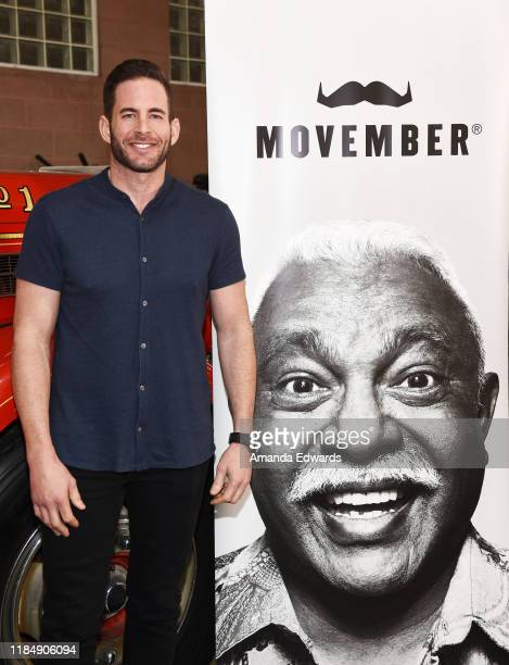 Television personality Tarek El Moussa attends the MOVEMBER Kickoff Event with Tarek El Moussa and Jason O'Mara at the Culver City Fire Department...