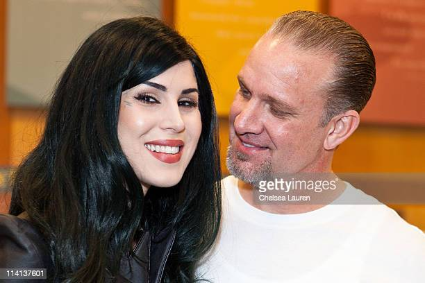 Television personality / tattoo artist Kat Von D and CEO of West Coast Choppers Jesse James attend Jesse James' American Outlaw book signing at...