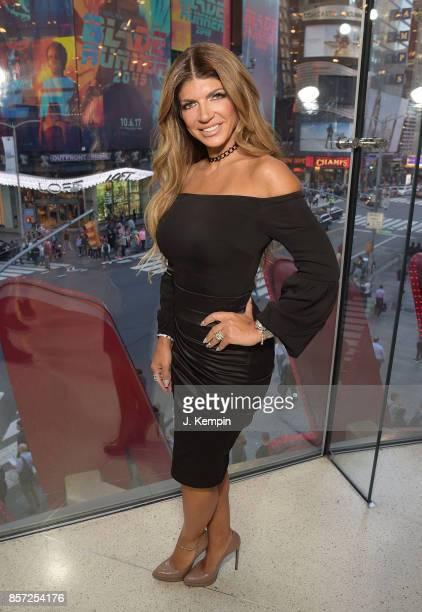Television personality Teresa Giudice visits 'Extra' at HM Times Square on October 3 2017 in New York City