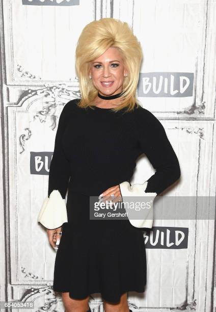 Television personality Theresa Caputo attends the Build Series to discuss the reality series 'The Long Island Medium' at Build Studio on March 16...