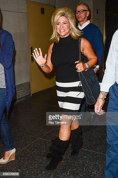 Television personality Theresa Caputo leaves the 'Today Show' taping at the NBC Rockefeller Center Studios on September 23 2014 in New York City