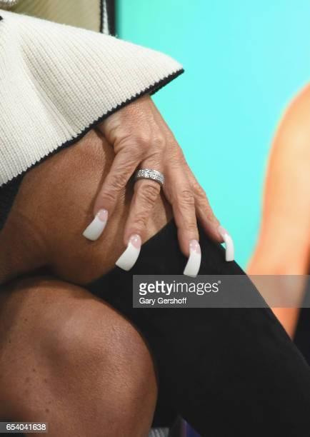 Television personality Theresa Caputo ring and nail detail attends the Build Series to discuss the reality series 'The Long Island Medium' at Build...