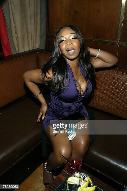 Television personality Tiffany New York Pollard of VH1's I Love New York poses for a picture during Sujit's birthday party at Marquee August 22 New...
