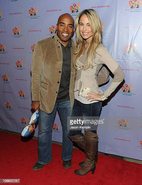 Television personality Tiki Barber and model Traci Lynn Johnson attend the 17th Annual Kids For Kids Family Carnival at Skylight Studio on November 6...